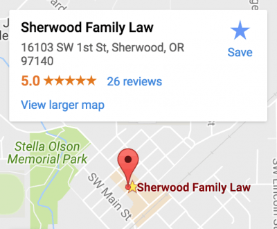 Sherwood Family Law Office Map